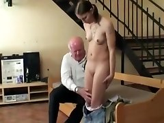 Tatooed fat blonde fucks herself with a dildo