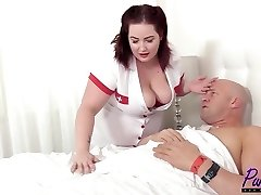 Shooting pictures with her turns him on and he must give the BBW babe the sex she needs