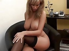 Tanned fattie slut seduces married video guy right in his video studio