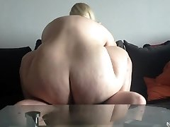 Crazy husband nails hot BBW friend in kitchen and wife sees it all