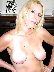 Blonde Amateur MILF With Huge Natural Breasts