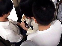 Amateur Asian has cans touched over uniform PublicSexJapan.com