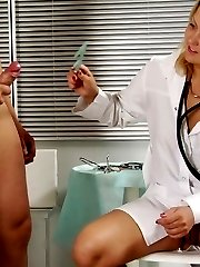 Two nurses got control over the ass and cock