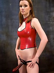 Rico is put to the test with this cold hearted bitch! Raven uses CBT, paddling and strap-on ass...
