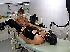Rubber anal stretching