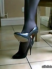 """Holly is one of those very special ladies who knows exactly what a good pair of high stiletto shoes does to a man. She says that the high heel shoe is a triumph of sex over sensibility giving a strong """"come on"""" signal causing the shoe fetishist to respond with a natural love and affection for shoes"""
