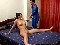 Trainee-trainer home lesbian sport encounter