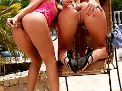 Two hot lesbian lovers lick pussy