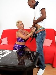 Naughty mature slut fucked by a hard black dude