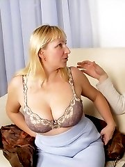Pretty mom licking pecker