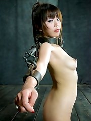 Japanese cutie Marica Hase got a welcoming present from us as soon as we got her home, an iron pole, one of a kind, to shackle her to. She is nervous about her first time with metal bondage. Rope can be so warm and comforting and this is anything but. But in spite of her initial reticence this bound beauty begins moaning in no time, along with other, equally enticing sounds. So eager to please.