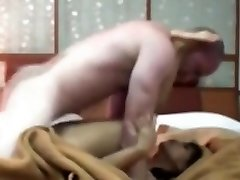 Gorgeous vixen slides down tight panty for a steamy pussy eating