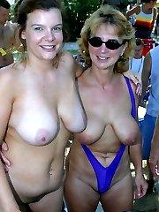 big mature big tits outdoors