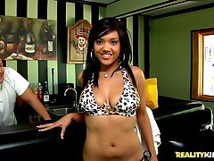 Amazing hot fucking black bikini babe catalina gets drilled hard pool side in this hot big ass...