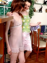 Cute guy cross-dressing for dirty role playing with a strap-on armed chick