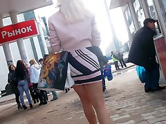 Girls provide with upskirt seduction
