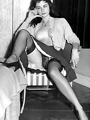 Black and white stocking photos from London in the swinging 60s!