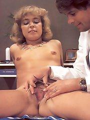 Doc inspecting retro pussy