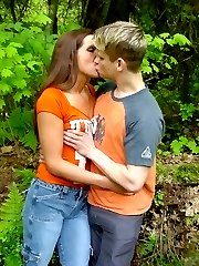 Couple in secret sexually perverted outdoors sex