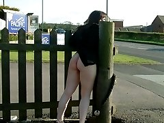 Amateur nude in public
