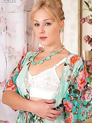 Pretty blonde Aston loves the look and feel of her seductive outfit, those panties, her stunning...