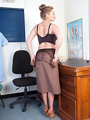 Need it or not Holly is a fully fashioned nylon clad doctor specialising in providing erection...