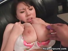 Cute asian babe with huge juggs gets part2
