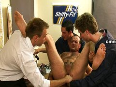 Mature man abused by mechanics