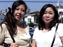 Japanese AV Model and her daughter stroke and JapaneseMatures.com