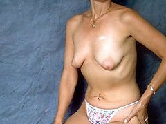 Slim Amateur Mature Posing for A Test Photo Shoot