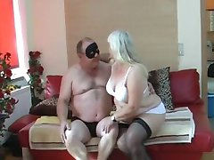 Chubby wife sucks and fucks on her bed
