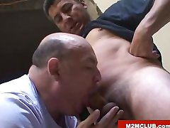 Horny worker fucking a daddy