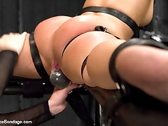 Today Mz Berlin is on her own going after girl next door with simply amazing tits, Serena Blair....