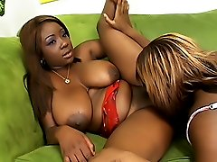 Black lesbians fuck each other hard