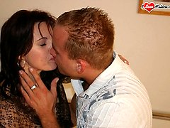 Hot housewife fucked by a strapping fellow