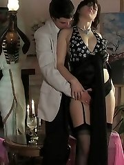 Lascivious chick in luxury stockings getting her tight pussy impaled deep
