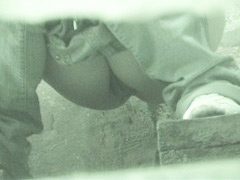 Pissing hotties squatted right over voyeur camera