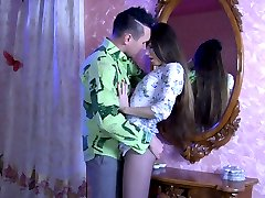 Fuckable hottie in sheer-to-waist hose gets groped before a nylon quickie