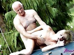 Senior gentleman penetrates
