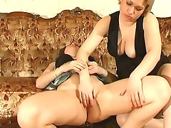 Heated girl makes passes at older babe ending up fingering and licking muff