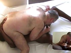 Black guy fucks big hairy bear