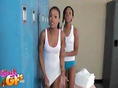 Black girls in lockerroom