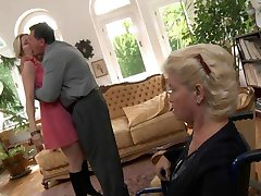 Blonde milf fucked by servant