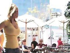 Virgin Busty Blonde Public Flashing