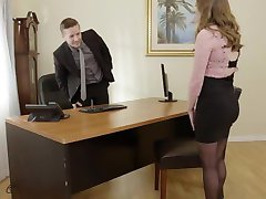 Pervy Boss Fucks Sexy Office Assistant