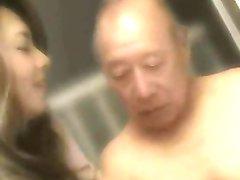 Old Man + Beautiful Japanese MILF - Erotic Yumi Kazama