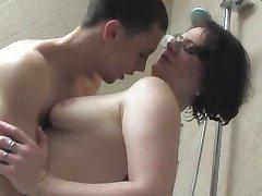nice brunette bathroom sex