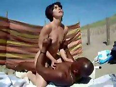 Nude Beach - Little Tits Mature BBC Bareback