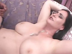 Big titted Milf-Slut hard fucked by 2 Guys - Raven