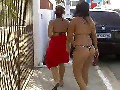 Sluts leaving the beach in bikini
